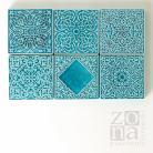 Ceramika i szkło ceramiczne dekory,ręcznie wykonane,turkusowe