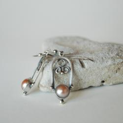 delikatne,lekkie,nitza,autorskie,perły - Kolczyki - Biżuteria