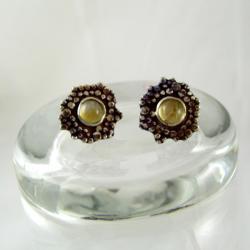 Kolczyki srebrne z cytrynami - Kolczyki - Biżuteria