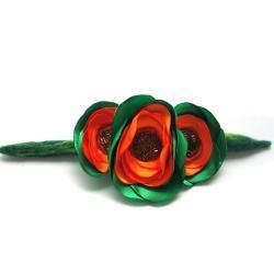 broszka,gałązka,kwiaty,filc,romantyczna - Broszki - Biżuteria