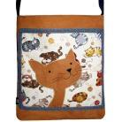 Na ramię torba autorska,kot,prezent,nastolatka,kolorowa
