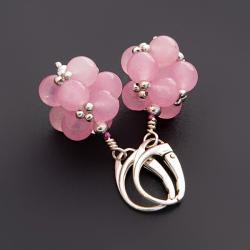 owocowe,eleganckie,różowe - Kolczyki - Biżuteria