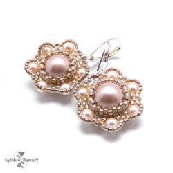 eleganckie,delikatne,ślubne,jasne,kwiaty - Kolczyki - Biżuteria