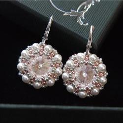 romantyczne,ślubne,perłowe,eleganckie,białe - Kolczyki - Biżuteria