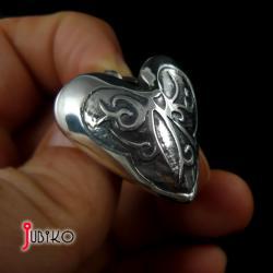 srebrne,serce,serduszko,wisior,wisiorek - Wisiory - Biżuteria
