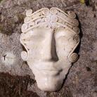 Ceramika i szkło maska,rękodzieło,unikat,na ścianę,rzeźba