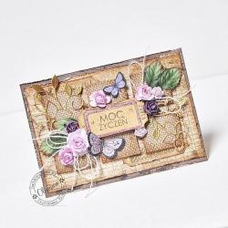 eco,rustic,rustykalny,róże,juta,motyle - Kartki okolicznościowe - Akcesoria