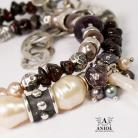 Bransoletki bransoleta z pereł,elegancka biżuteria