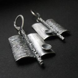 kolczyki srebrne,biżuteria autorska,art clay - Kolczyki - Biżuteria