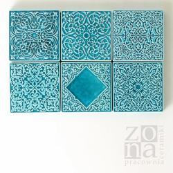 ceramiczne dekory,ręcznie wykonane,turkusowe - Ceramika i szkło - Wyposażenie wnętrz