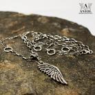 Naszyjniki naszyjnik,skrzydło,łańcuszek
