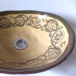 umywalka,umywalka ręcznie malowana,umywalka - Ceramika i szkło - Wyposażenie wnętrz