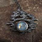 Wisiory kamień księżycowy,moonstone,surowy,kuty