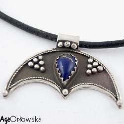lunula. srebro,filigran - Wisiory - Biżuteria