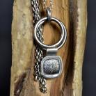 Naszyjniki srebrny naszyjnik ze wzorem,długi naszyjnik