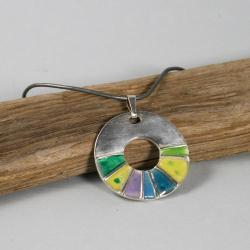 srebro,żywica,kolory,zawieszka, - Wisiory - Biżuteria