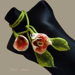 duży,długi,miękki,kwiat,naszyjnik,kolorowy,liść, - Naszyjniki - Biżuteria
