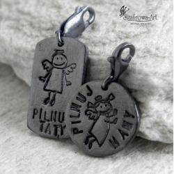 charms,anioł,dla taty,prezent,wisior,dla mamy - Charms - Biżuteria
