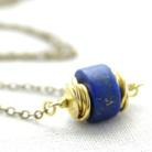 Naszyjniki lapis lazuli,niebieski,naszyjnik,mosiądz,złoty