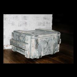 skrzynia,pudło,drewno,metal,szary,niebieski, - Pudełka - Wyposażenie wnętrz
