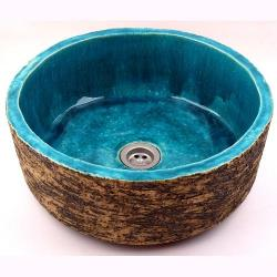 umywalka ręcznie robiona,umywalka z gliny - Ceramika i szkło - Wyposażenie wnętrz