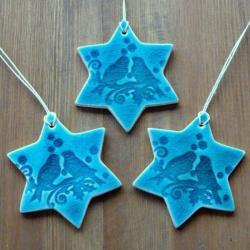 gwiazdki,śnieżyni,romantyczne,choinkowe - Ceramika i szkło - Wyposażenie wnętrz