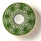 Ceramika i szkło ceramiczny lampion,świecznik,ornament,zielony