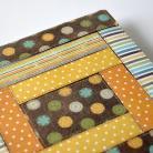 Notesy kalendarz książkowy 2014,patchwork,czekolada