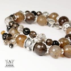 bransoleta z kamieni,elegancka biżuteria - Bransoletki - Biżuteria