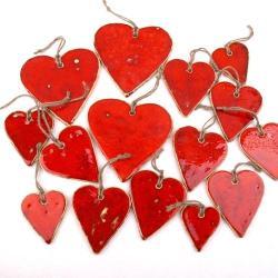 serce ceramiczne,serce z gliny - Ceramika i szkło - Wyposażenie wnętrz