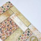Notesy kalendarz książkowy,patchwork,kwiaty,groszki
