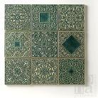 Ceramika i szkło kafle,ręcznie robione,ornamentowe,zielone