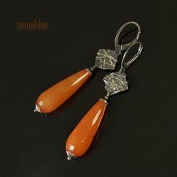 pomarańczowe,oranżowe,energetyczne,sople - Kolczyki - Biżuteria
