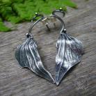 Kolczyki Kolczyki sztyft ze srebrnym liściem