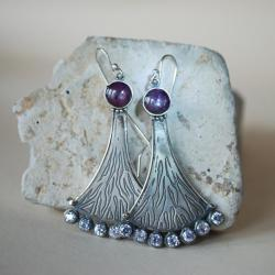kobiece,oryginalne,autorskie,nitza,rubinowe - Kolczyki - Biżuteria