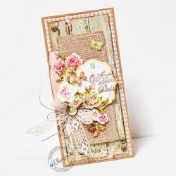 eco,rustic,rustykalny,róże,juta,pudełko - Kartki okolicznościowe - Akcesoria