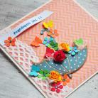 Kartki okolicznościowe parasolka,życzenia,urodziny,imieniny,kwiaty