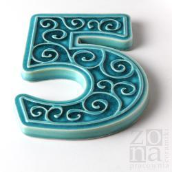 ręcznie robiona cyfra,numer na dom,na ścianę - Ceramika i szkło - Wyposażenie wnętrz