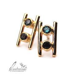 ekskluzywne,kolczyki z diamentamiu,złote - Kolczyki - Biżuteria