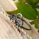 Pierścionki srebrny,minimalistyczny pierścionek z kwiatem