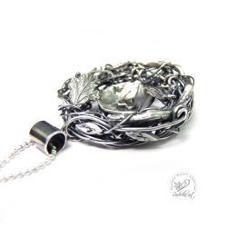długi,srebrny,oksydowany,romantyczny,serce - Naszyjniki - Biżuteria