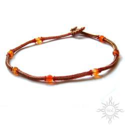 jesienny,sznur,prosty,elegancki,klasyczny - Naszyjniki - Biżuteria