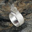 Pierścionki pierścień,kryształ górski,srebro