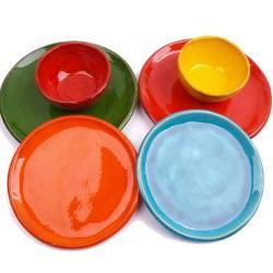 talerze ceramiczne,kolorowe talerze - Ceramika i szkło - Wyposażenie wnętrz