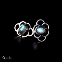 srebro labradoryt sztyfty - Kolczyki - Biżuteria