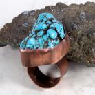 Pierścionki pierścionek,miedziany,howlit,niebieski