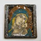 Ceramika i szkło Matka Boska,ikona,ceramika,obraz,Kmieć