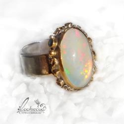 pierścionek z opalem,regulowany pierścionek - Pierścionki - Biżuteria