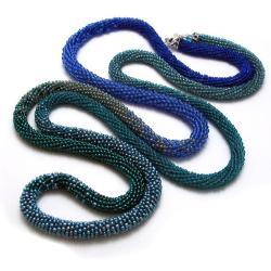 naszyjnik,pleciony,elegancki,szydełko,sznur, - Naszyjniki - Biżuteria