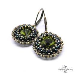 błyszczące,wieczorowe,wyraziste,Swarovski,zieleń - Kolczyki - Biżuteria